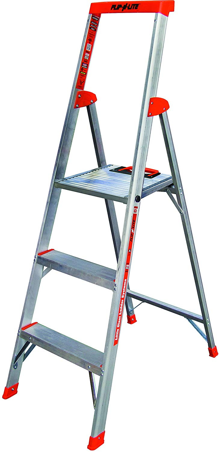 Flip-N-Lite-300-Pound-Rating-Platform-Stepladder